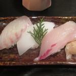 季節料理 ふる川 - 鯛、イカ、カンパチ