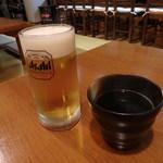 みやちゃん - 相方のアサヒビールと私のお茶