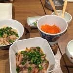 日本蕎麦&鉄板ダイニング 三ヶ森 - なまこ酢、いくらおろし、酢モツ