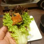 宙 SORA 韓国家庭料理&焼肉 - サムギョプサルを頂く