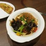 宙 SORA 韓国家庭料理&焼肉 - チャプチェ、セットにしては野菜もきちんと入っていて美味しい!