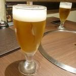 宙 SORA 韓国家庭料理&焼肉 - 先ずはビール