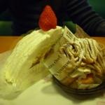 36629650 - イタリアンショートケーキ、モンブラン