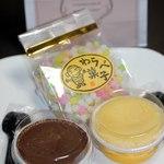 フランソワ 一閑 - 料理写真:チョコ、チーズのカップケーキ?、金平糖