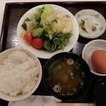 奈良のうまいものプラザ - モーニング 卵かけご飯セット