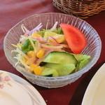 パレスサイドホテル Fermata - 1000円ランチのサラダ