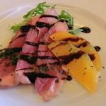 パレスサイドホテル Fermata - 2100円ランチの前菜、鴨のロースト