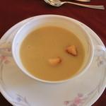パレスサイドホテル Fermata - 2100円ランチのスープ