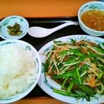 日高屋 読売ランド前駅南口店 - ニラレバ炒め定食