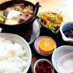 食事処 ときわ - 日替わり「牛鍋定食」500円