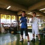 36641233 - 3年生最後の大会へ。保田君!!!と。おやじボクサー48歳