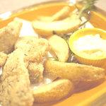 紅谷町BQバール - 料理写真:平塚漁港で揚がった新鮮な魚のフィッシュ&チップス