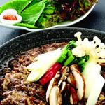 牛プルコギセット(韓国風すき焼き)