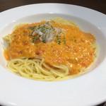 ラ ピエトラ - 蟹のトマトクリームスパゲッティ