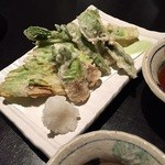 海のぼん - 春野菜の天ぷら