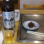 カンナ - 料理写真:瓶ビール大(アサヒ・キリン選択可) 中瓶ビールもあるよ(^○^)