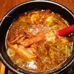 36676685 - 豚バラ肉のブロックチャーシューが入った、こく旨しょうゆスープ出汁~♪(^o^)丿