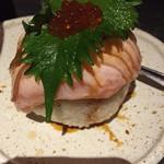 花美咲 - サーモンの炙り寿司✨