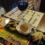 36678239 - おつまみセット(酒+お惣菜3品)