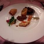 赤坂 四川飯店 - シンガポールコラボレーションでのオードブルです。