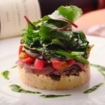 ビストロ・アヴリル - 【新メニュー】仔羊のロースト 春野菜とクスクスのサラダ仕立て ¥1400