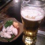 美味しんぼ - カキポンと生ビール♪