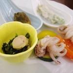 ホテル瑞鳳 - 夕食ビュッフェの前菜いろいろ
