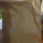 36681602 - 外袋です。テントウ虫をあしらった印が押してありました。