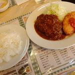 """キッチン ジロー - """"ハンバーグ & 帆立コロッケ"""""""