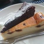 36688033 - ガトーショコラとバナナのチーズケーキ