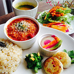 EDEN - 2015年2月の旬菜カフェプレートB.ラザニア 前菜ブッフェがついて1200円