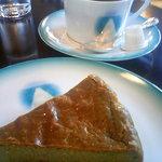 白馬亭 - 抹茶のチーズケーキセット