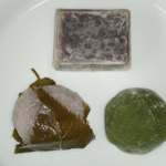 瀬戸内菓房 雅 - 料理写真:桜餅、きんつば、よもぎ餅