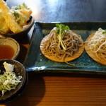 36705265 - 天ぷら付き二色蕎麦
