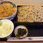 若松 - 生姜焼きセット(もりそば)¥900
