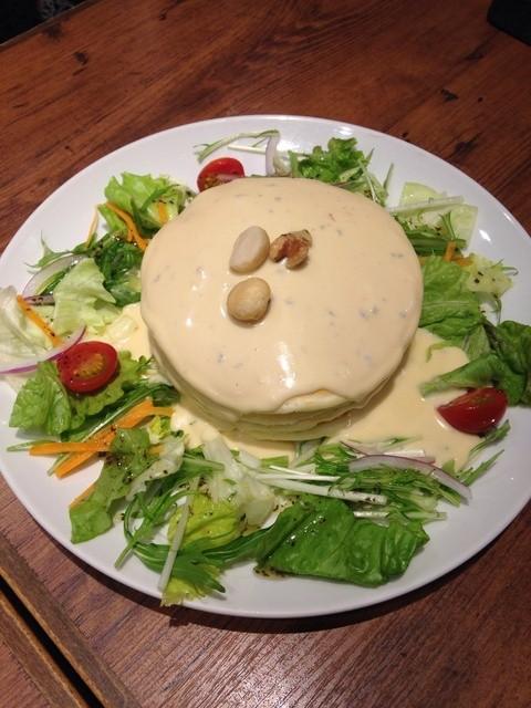 mog 難波店 - 4種類のチーズフォンデュパンケーキ