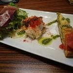 スペインバル カメレオン - 春の贅沢ランチ(1000円) 前菜プレート