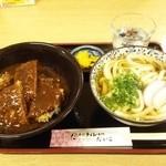 36715319 - 和風デミカツ丼セット850円 (ミニうどん 和風デミカツ丼)