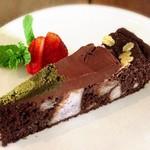 浮島ガーデン - 田芋のショコラケーキ