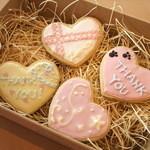 ワッフルカフェ プルミエ - アイシングクッキー、オーダー承ります。1枚~OKです。詳しくはホームページをご覧ください