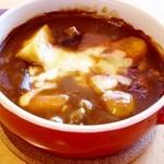 ワッフルカフェ プルミエ - ビーフシチューのチーズ焼き(17:00~のディナーメニューです)