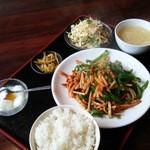 五福楼 - 青椒肉絲定食