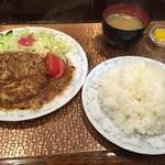 K - ハンバーグ洋風ワサビ定食