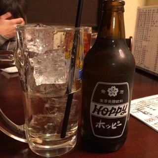 居酒屋 忠助  稲毛本店 - ホッピーセット(白)・350円 ソト・150円/ナカ・200円