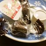 いなり家こんこん - いなり定食(コーヒーにチョコレートも付いてきた)
