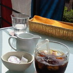 ハナイロカフェ - ランチセットアイスコーヒー。