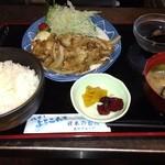 庄や - 生姜焼き定食  800円