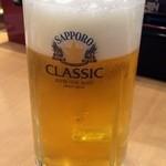 36735347 - 生ビール(サッポロクラシック)480円