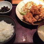 博多もつ鍋やまや - 明太から揚げ定食¥1000