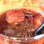 Kitchen 古時計 - 豚の生姜焼き<限定7食> 500円 のアイスコーヒー